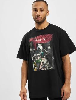 Off-White Caravag Painting S/S Over  T-skjorter svart