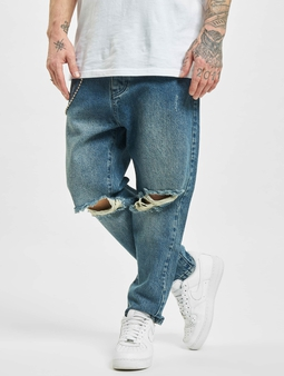 2Y Peoria  Straight Fit Jeans blå