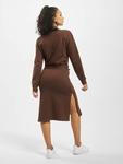 Missguided Tie Belt Midi Sweater Dress Chocolate image number 1