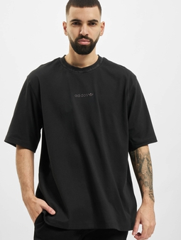 Adidas Originals Rib Detail T-Shirt Black