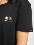 Alpha Industries Basic T Small Logo Foil Print T-Shirts image number 3