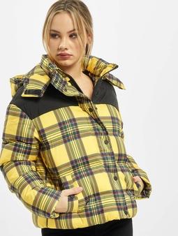 Urban Classics Ladies AOP 2-Tone Puffer Jacket Brightyellow