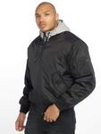 Brandit MA1 Sweat Zip Hoody Black/Grey image number 2