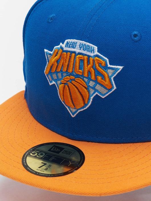 New Era NBA Basic NY Knicks 59Fifty Cap Blue/Orange (7 - 55, image number 3