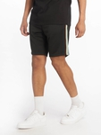 Urban Classics Side Taped Track Shorts Black/Grey image number 2