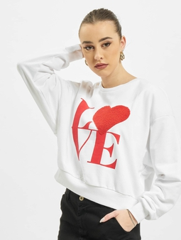 Only onlLove Life Sweatshirt Light Grey Melange/Need