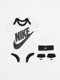 Nike Futura Logo Hat/Bodysuit/Bootie 3 Pieces Rush