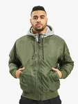 Brandit MA1 Sweat Zip Hoody Olive/Grey image number 2