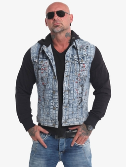 Yakuza 893World Denim Jacket Light Blue Painted