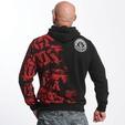 Yakuza Club Hoody Black/Red image number 1