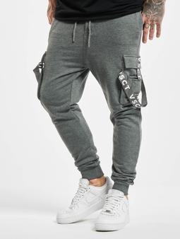 Vsct Clubwear Cargo Jogger Logo Tape Anthra Grey