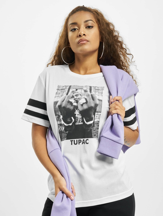 Mister Tee 2Pac Stripes T-Shirt White image number 0