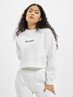 Missguided Petite Branded Cropped Sweatshirt