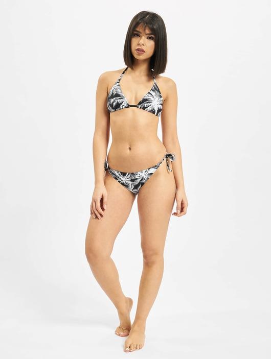 Urban Classics Ladies Palm Bikini Black/White image number 4