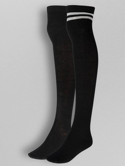 Urban Classics Overknee Socks 2-Pack