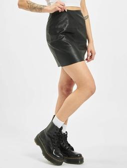 Missguided Petite Black Faux Leather Mini Skirt