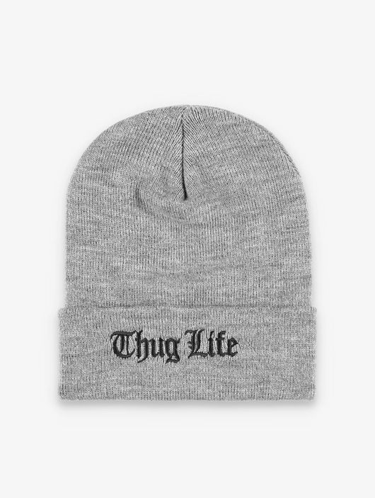 Thug Life Basic Old Englisch Beanie Grey image number 0