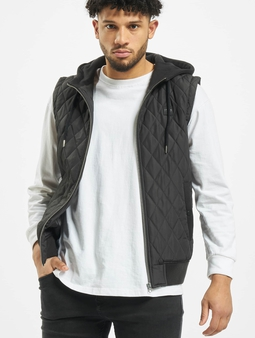 Urban Classics Diamond Quilted Hooded Vest