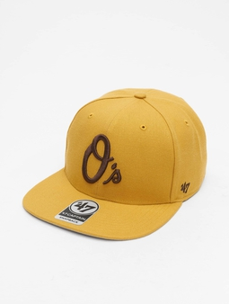 '47 MLB Baltimore Orioles No Shot Captain Snapback Cap Wheat