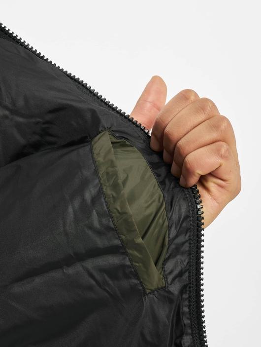 Jack & Jones jjDrew Hooded Puffer Jacket Asphalt image number 4