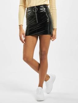 Missguided Petite Ring Pull Vinyl Mini Skirt