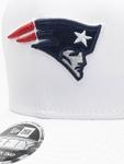 New Era NFL New England Patriots White Base Snapback Caps image number 3