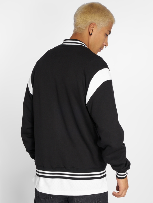 Urban Classics Inset College Jacket Black/White image number 2