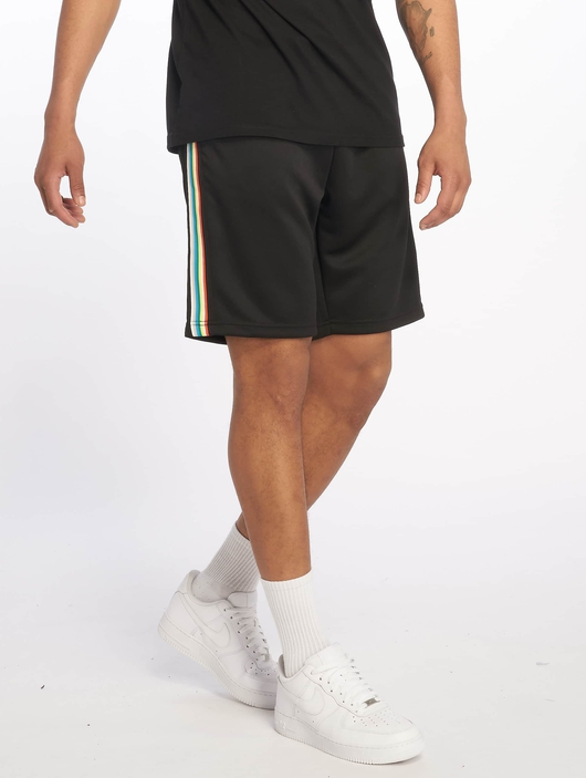 Urban Classics Side Taped Track Shorts Black/Grey image number 0