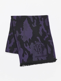 Roberto Cavalli Scarf Black/Purple