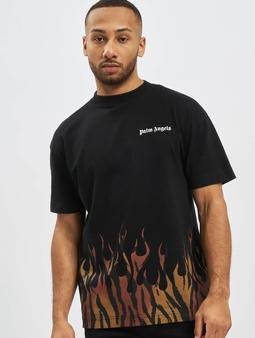 Palm Angels Tiger Flames T-skjorter svart