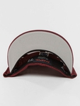 Flexfit Mesh Colored Front Snapback Cap Maroon/White image number 2