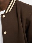 Urban Classics Contrast Sweat College Jacket Brown/Beige image number 3