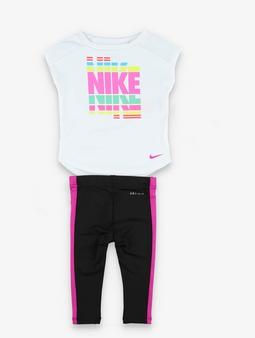 Nike SS Tunic & Leggings Set Macig Flamingo