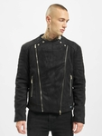 Sixth June Regular Perfecto Suede Fabric Jacket Black image number 2