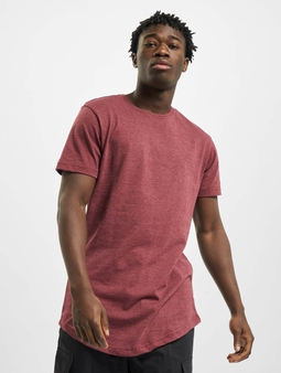 Urban Classics Shaped Melange Long T-Shirt Cherry