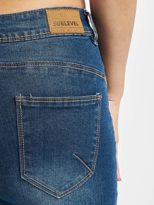 Sublevel Skinny Jeans Dark Blue Denim image number 4
