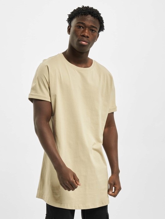 Urban Classics Long Shaped Turnup T-Shirt Grey image number 2