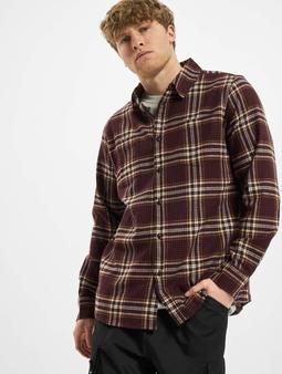 Urban Classics Checked Campus Shirt Cherry/Honey