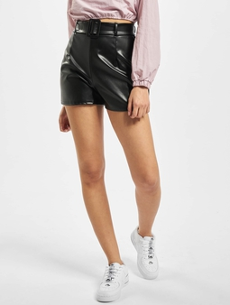 Missguided Short Faux Leather Belt Detail Shorts