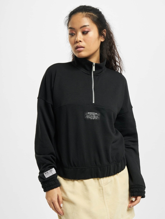 Only onlKira Life Half Zip Sweatshirt Black image number 2