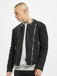 Sixth June Regular Perfecto Suede Fabric Jacket Black