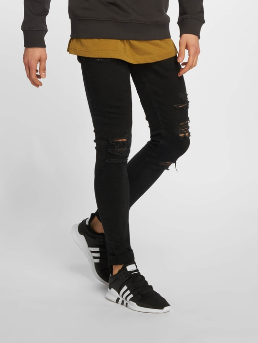 Jack & Jones jjiLiam jjOriginal Skinny Jeans Black Denim image number 0