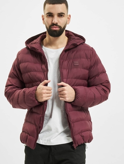 Urban Classics Basic Bubble Jacket Cherry