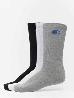 Champion X3 Legacy Crew Socks White Colored Logo Black