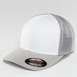 Flexfit Mesh Colored Front Snapback Cap Maroon/White