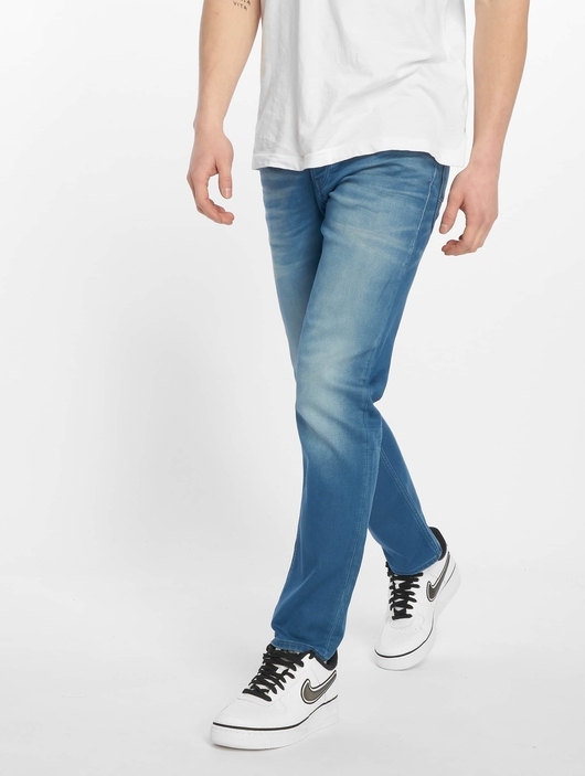 Jack & Jones jjiTim jjLeon Slim Fit Jeans Blue Denim image number 0