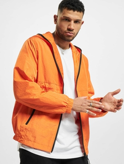 Urban Classics Full Zip Nylon Crepe Transitional Jackets oransje