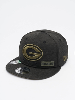 New Era NFL 20 STS EM 9Fifty Green Bay Packers Snapback Caps svart