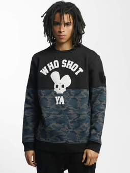 Who Shot Ya? Darkcamou Sweatshirt Black