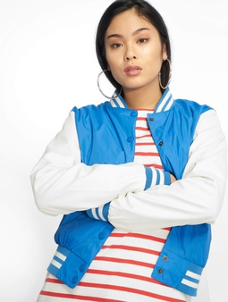 Urban Classics Ladies Light College Jacket Royal/White